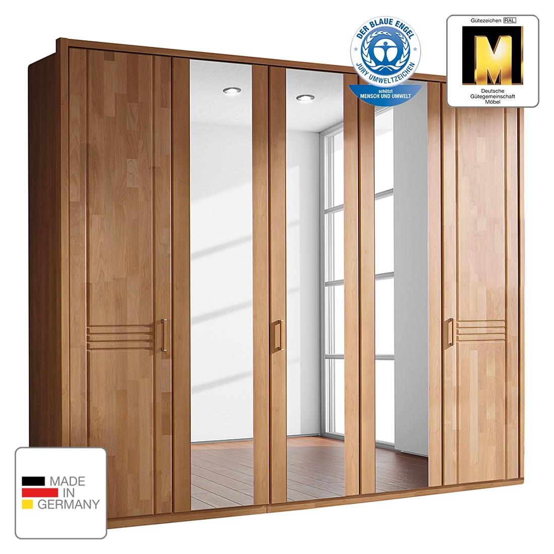 goedkoop Draaideurkast Savina Els 235cm 5 deurs 2 spiegeldeuren Met Passe partout lijst Rauch Steffen
