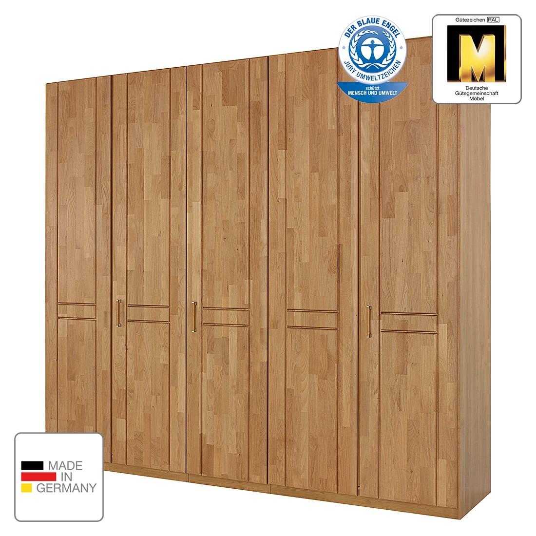 goedkoop Draaideurkast Sitara I gelakt deels massief elzenhout kastbreedte 189cm 4 deurs Rauch Steffen