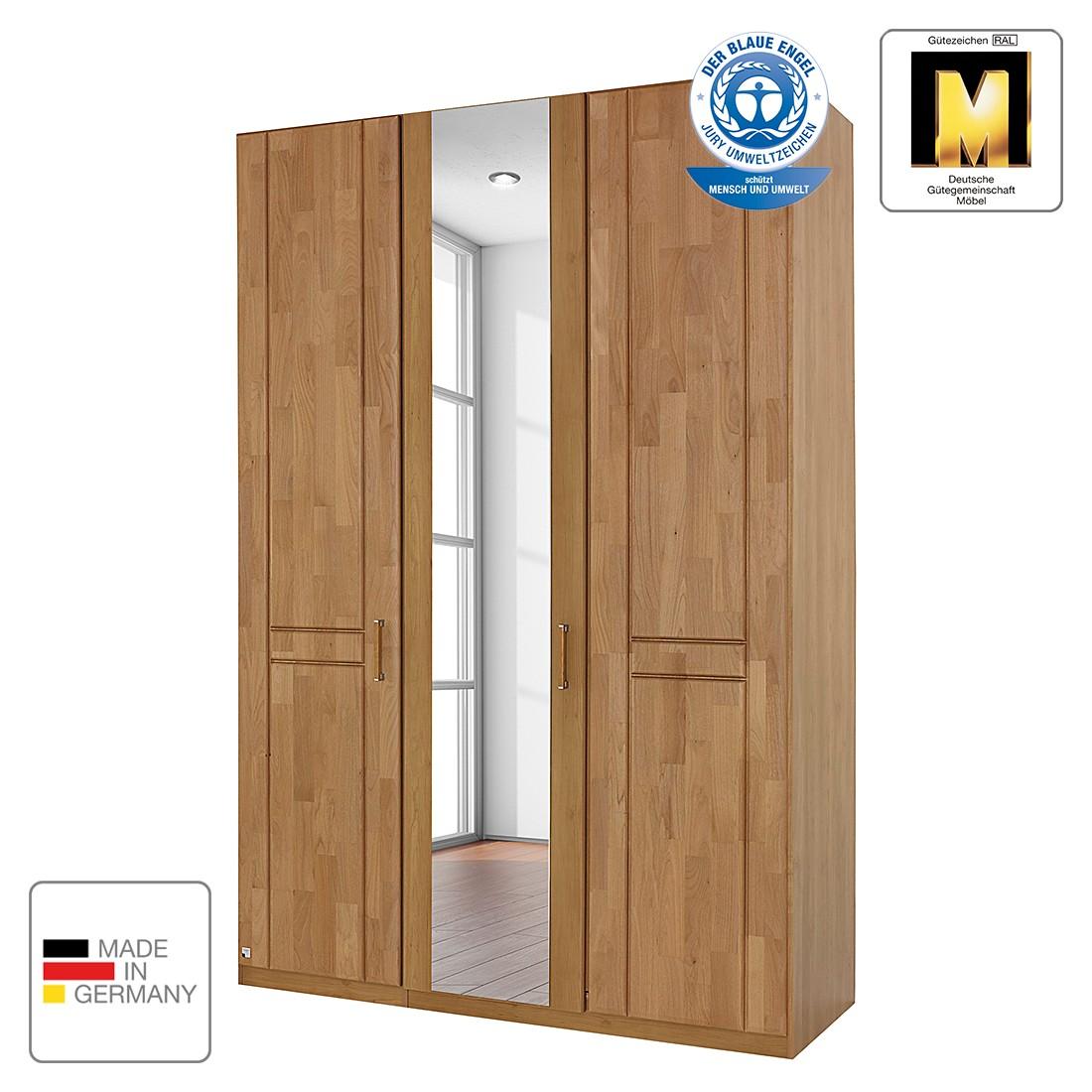 goedkoop Draaideurkast Sitara II gelakt deels massief elzenhout kastbreedte 235cm 5 deurs 2 spiegels Rauch Steffen