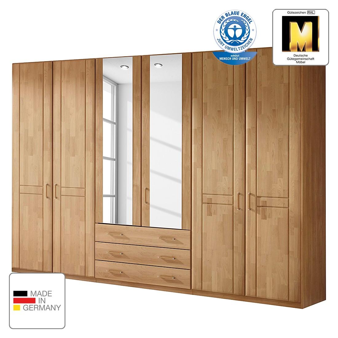 goedkoop Draaideurkast Sitara III gelakt deels massief elzenhout kastbreedte 142cm 3 deurs Rauch Steffen