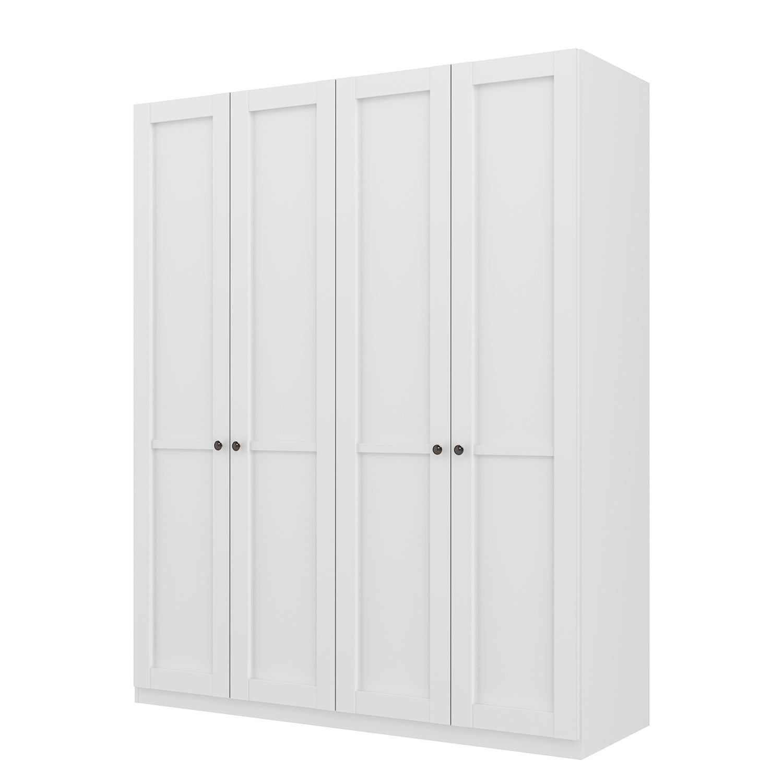 goedkoop Draaideurkast Skøp landelijk wit 181cm 4 deurs 222cm Basic Skop