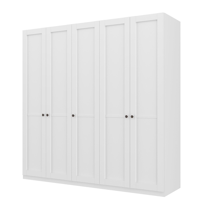 goedkoop Draaideurkast Skøp landelijk wit 225cm 5 deurs 222cm Basic Skop