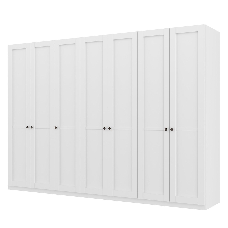goedkoop Draaideurkast Skøp landelijk wit 315cm 7 deurs 222cm Premium Skop
