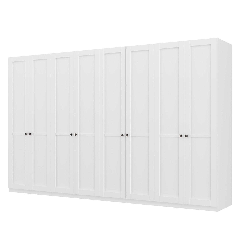 goedkoop Draaideurkast Skøp landelijk wit 360cm 8 deurs 222cm Basic Skop