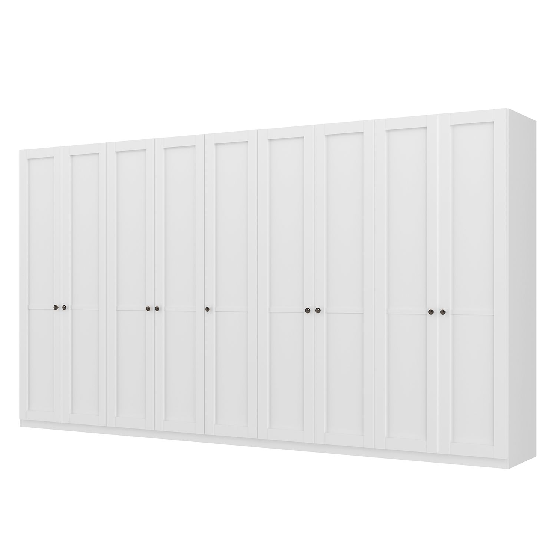goedkoop Draaideurkast Skøp landelijk wit 405cm 9 deurs 222cm Basic Skop