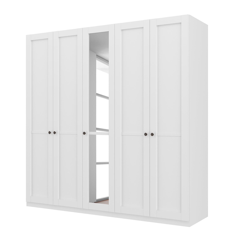 goedkoop Draaideurkast Skøp landelijk wit kristalspiegel 225cm 5 deurs 222cm Classic Skop