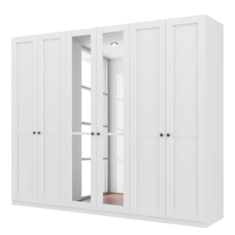 goedkoop Draaideurkast Skøp landelijk wit kristalspiegel 270cm 6 deurs 222cm Basic Skop