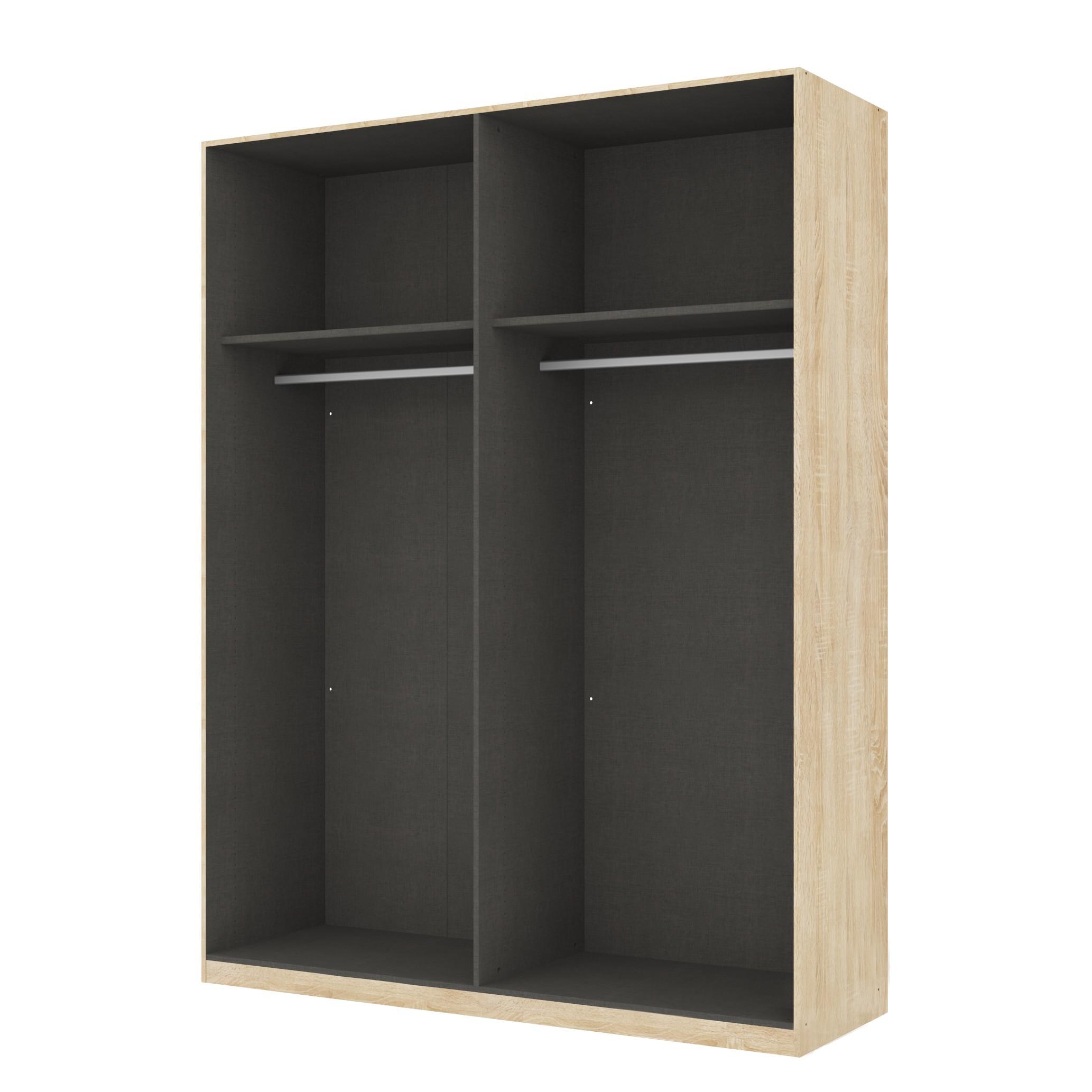 goedkoop Draaideurkast Skøp Sonoma eikenhouten look open 181cm 4 deurs 236cm Classic Skop