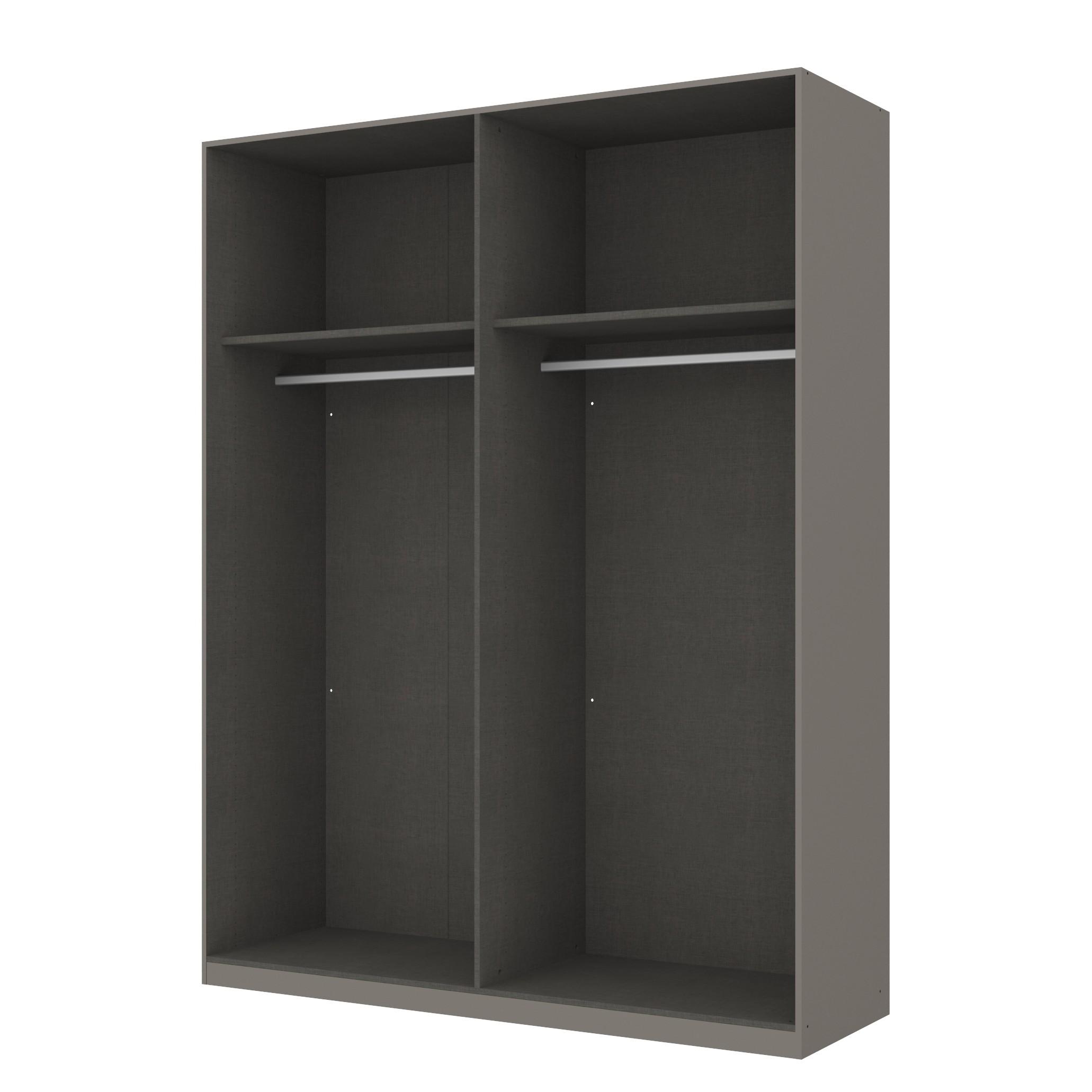 goedkoop Draaideurkast Skøp grafietkleurig open 181cm 4 deurs 236cm Classic Skop