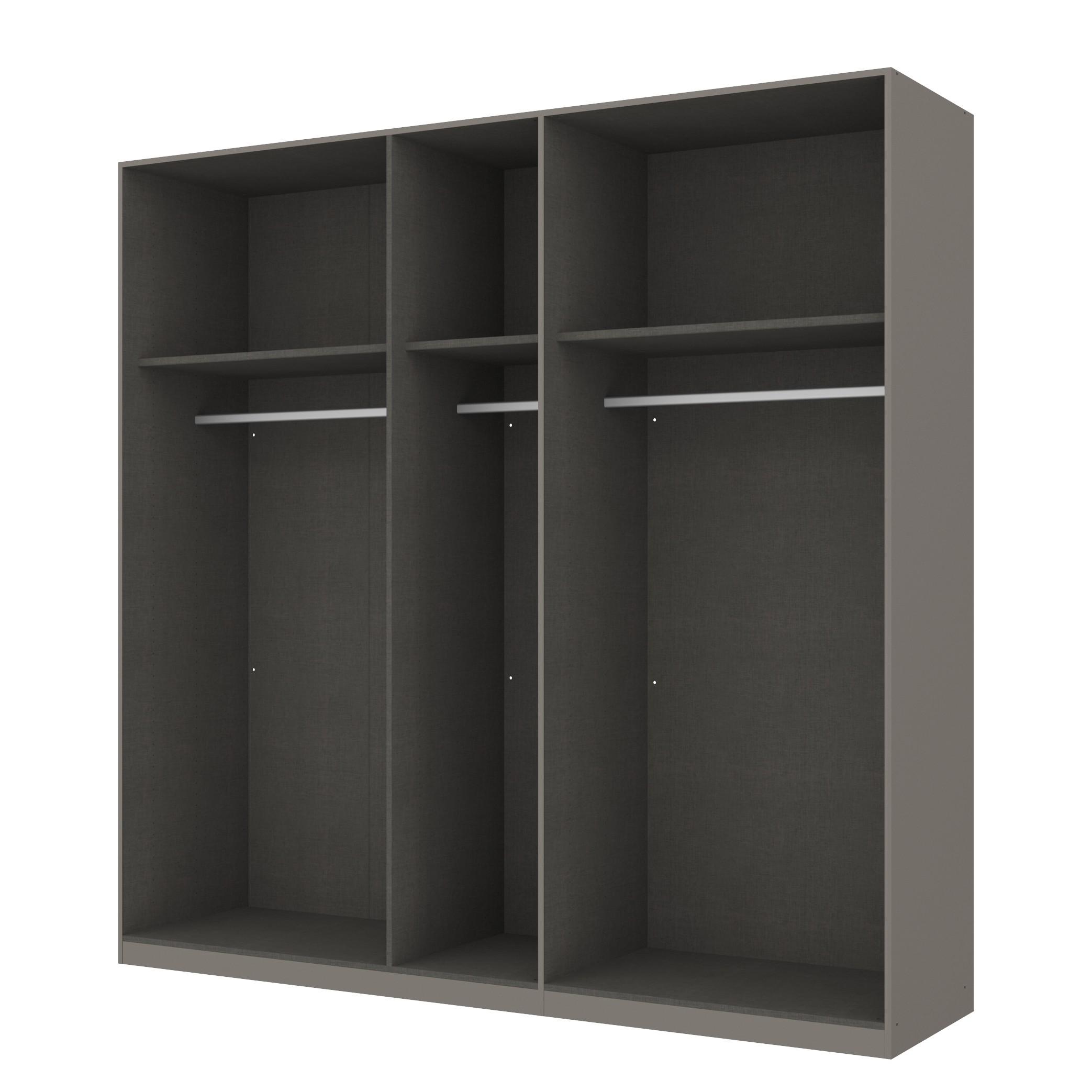 goedkoop Draaideurkast Skøp grafietkleurig open 225cm 5 deurs 222cm Comfort Skop