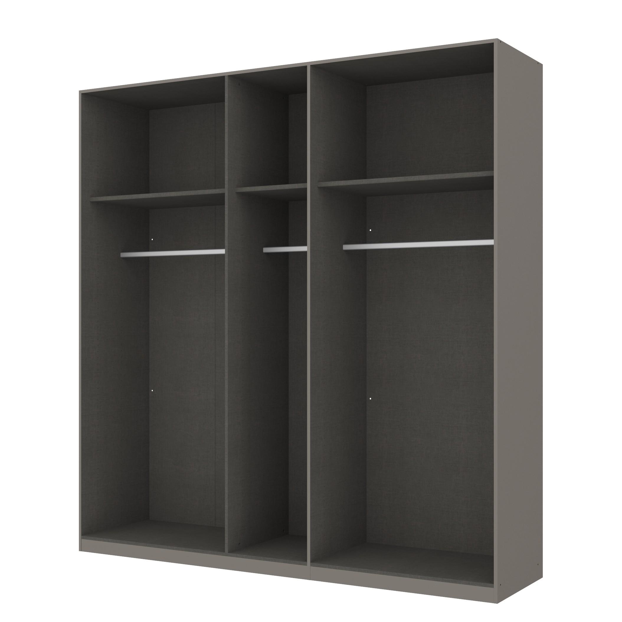 goedkoop Draaideurkast Skøp grafietkleurig open 225cm 5 deurs 236cm Premium Skop