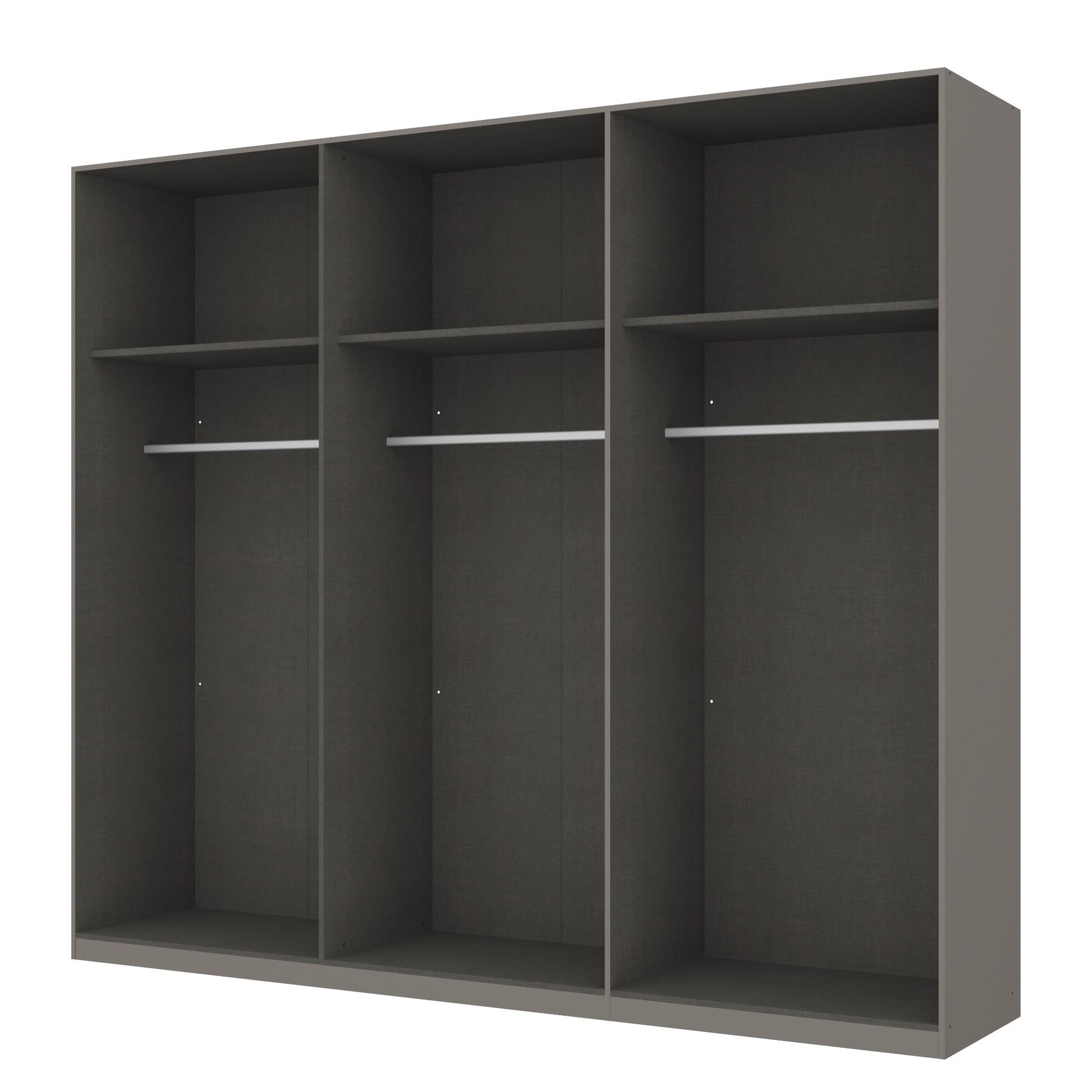 goedkoop Draaideurkast Skøp grafietkleurig open 270cm 6 deurs 236cm Comfort Skop