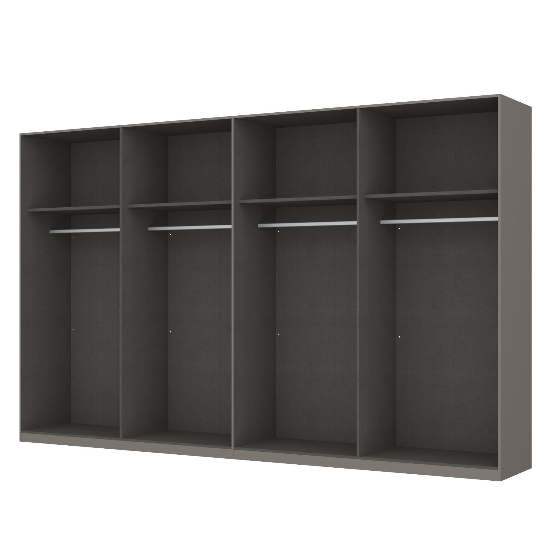 home24 Kleiderschrank SKOEP | Schlafzimmer | Grau | Holzwerkstoff | SKOEP