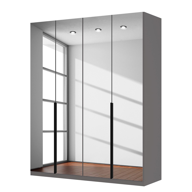 goedkoop Draaideurkast Skøp donker spiegelglas 181cm 4 deurs 222cm Premium Skop
