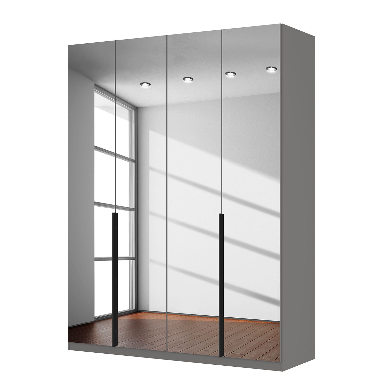 goedkoop Draaideurkast Skøp donker spiegelglas 181cm 4 deurs 236cm Premium Skop