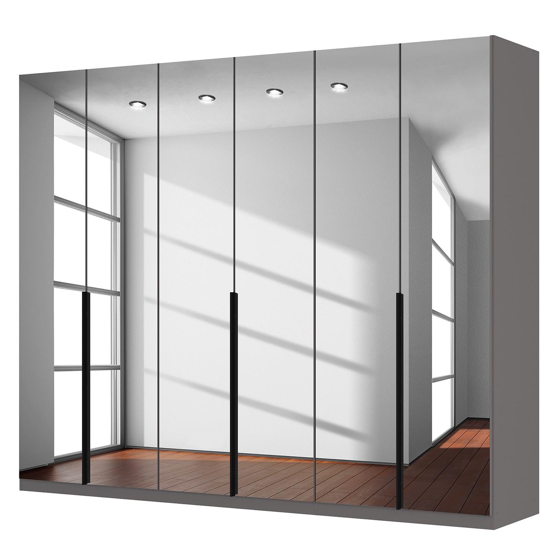 goedkoop Draaideurkast Skøp donker spiegelglas 270cm 6 deurs 222cm Premium Skop