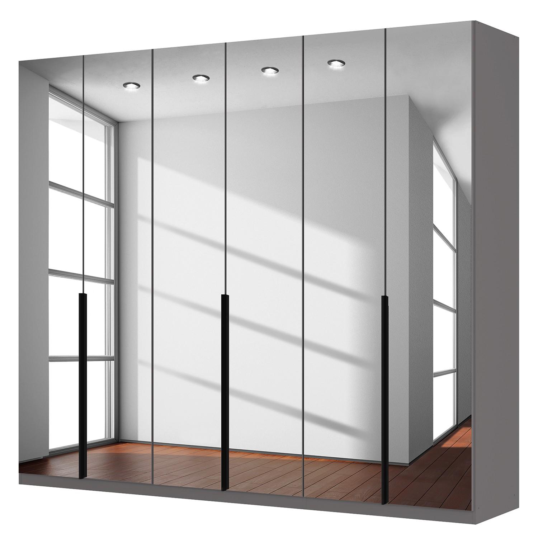 Drehtuerenschrank SKOEP | Schlafzimmer > Kleiderschränke > Drehtürenschränke | Schwarz | Glas - Holzwerkstoff | SKOEP
