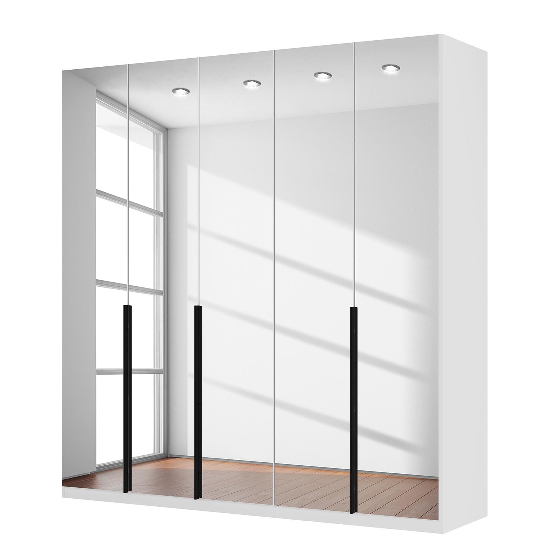 goedkoop Draaideurkast Skøp I alpinewit kristalspiegel 225cm 5 deurs 236cm Basic Skop