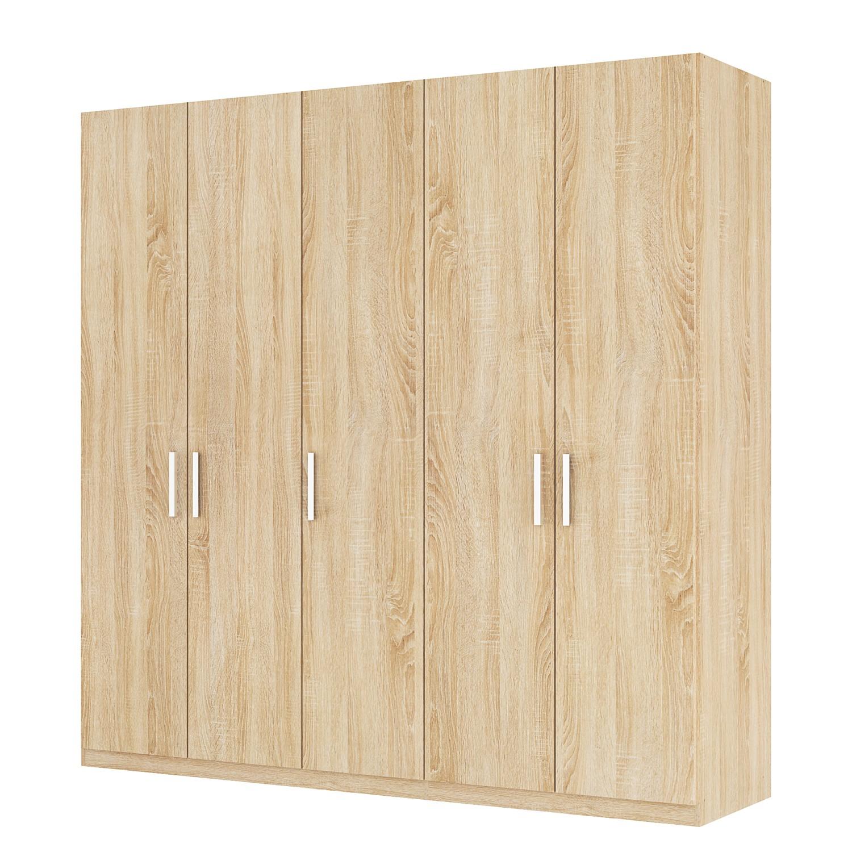 goedkoop Draaideurkast Skøp I Sonoma eikenhouten look 225cm 5 deurs 222cm Basic Skop
