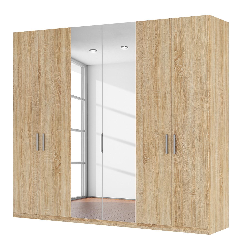 goedkoop Draaideurkast Skøp I Sonoma eikenhouten look kristalspiegel 270cm 6 deurs 236cm Comfort Skop