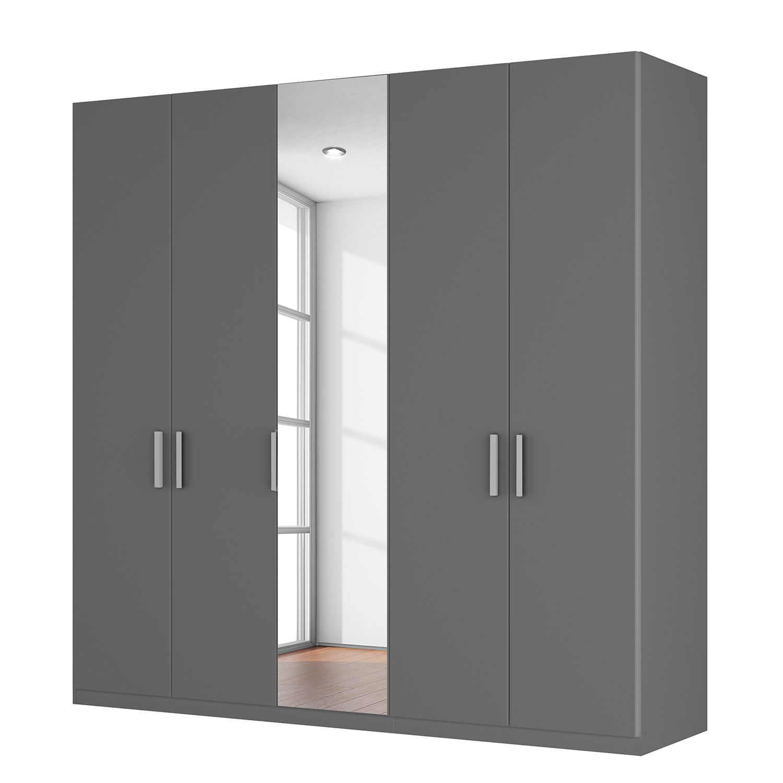goedkoop Draaideurkast Skøp I grafietkleurig kristalspiegel 225cm 5 deurs 222cm Comfort Skop