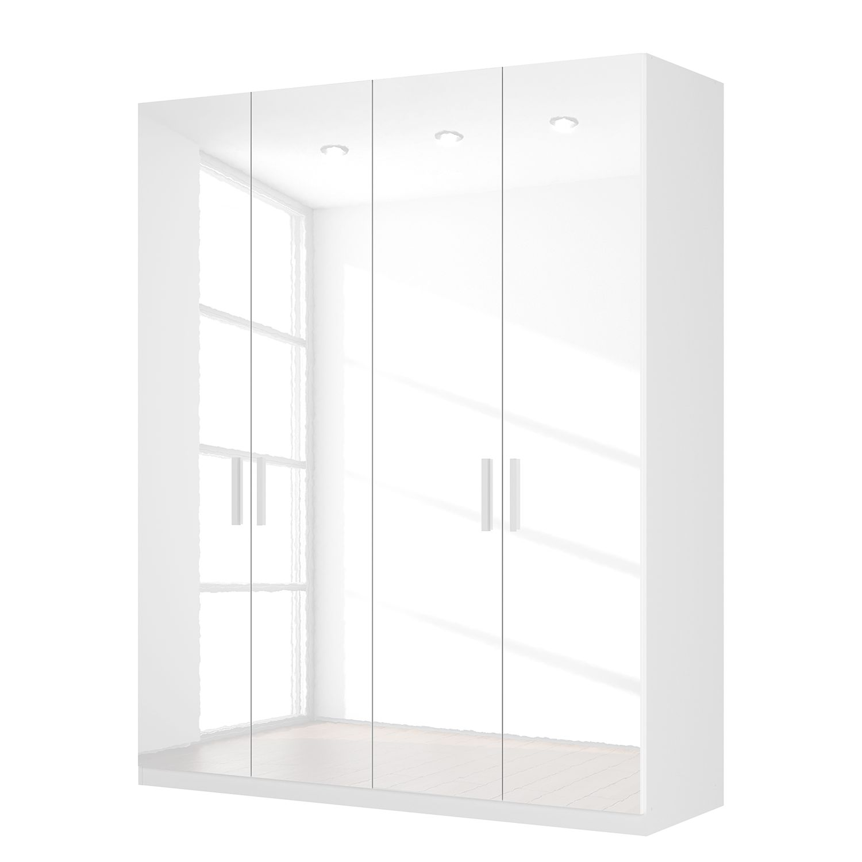 goedkoop Draaideurkast Skøp I hoogglans wit 181cm 4 deurs 222cm Basic Skop