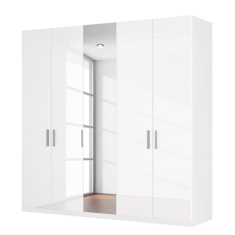goedkoop Draaideurkast Skøp I hoogglans wit kristalspiegel 225cm 5 deurs 236cm Basic Skop