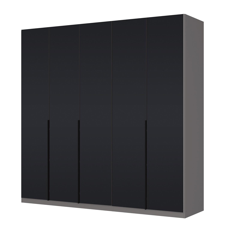 goedkoop Draaideurkast Skøp I grafietkleurig zwart mat glas 225cm 5 deurs 222cm Basic Skop
