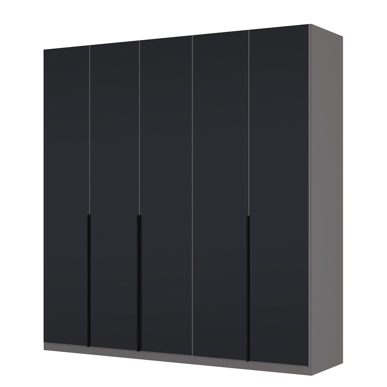 goedkoop Draaideurkast Skøp I grafietkleurig zwart mat glas 225cm 5 deurs 236cm Basic Skop