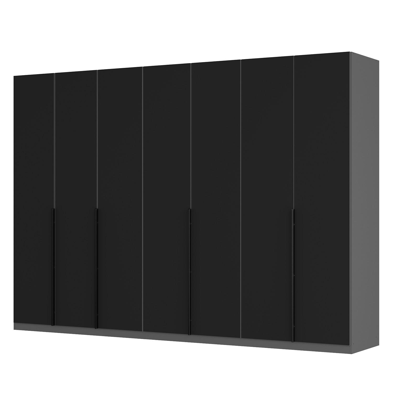 goedkoop Draaideurkast Skøp I grafietkleurig zwart mat glas 315cm 7 deurs 222cm Comfort Skop