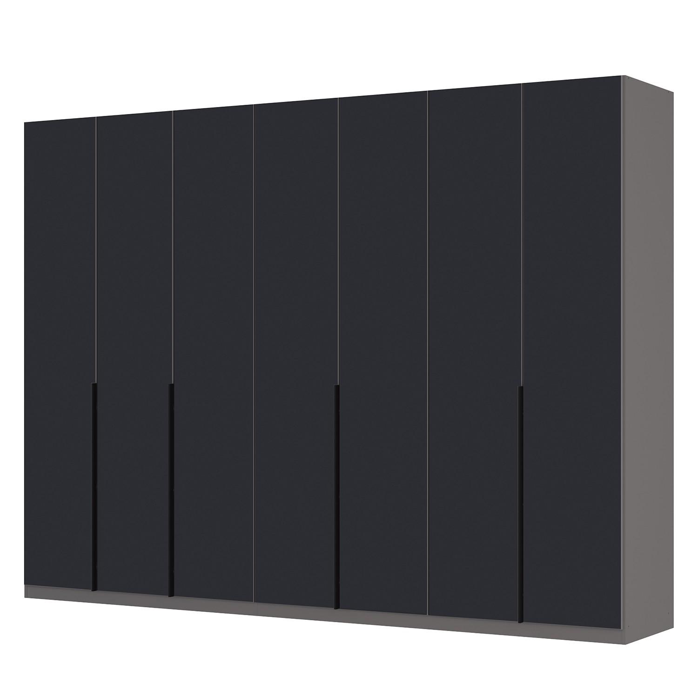 goedkoop Draaideurkast Skøp I grafietkleurig zwart mat glas 315cm 7 deurs 236cm Premium Skop