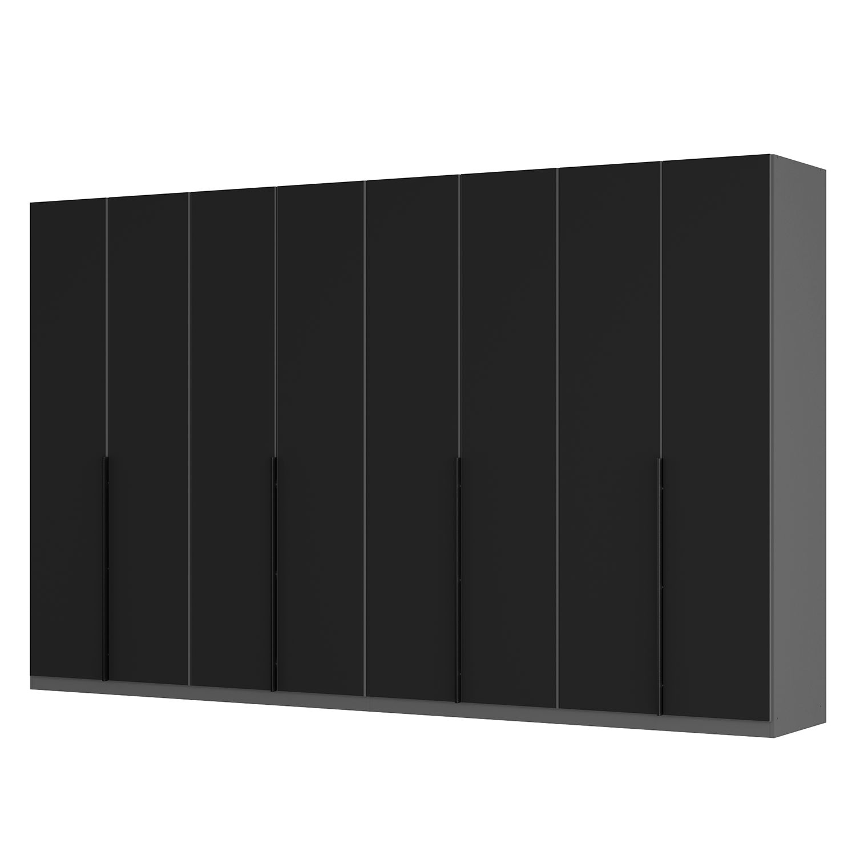 goedkoop Draaideurkast Skøp I grafietkleurig zwart mat glas 360cm 8 deurs 222cm Premium Skop