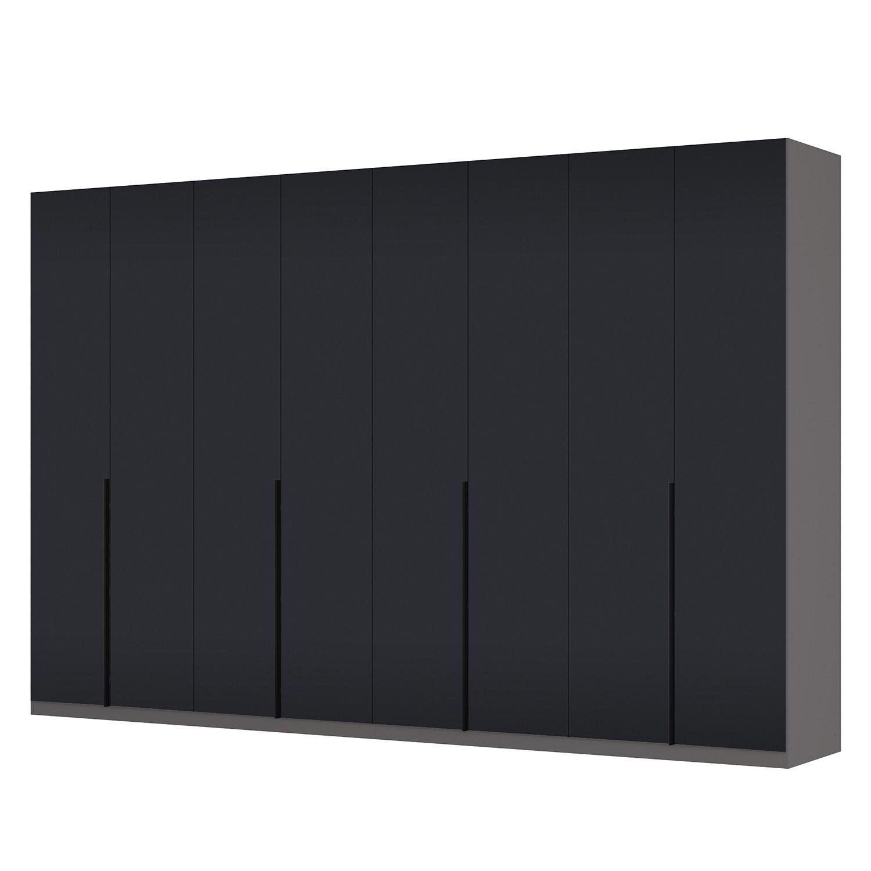 goedkoop Draaideurkast Skøp I grafietkleurig zwart mat glas 360cm 8 deurs 236cm Basic Skop
