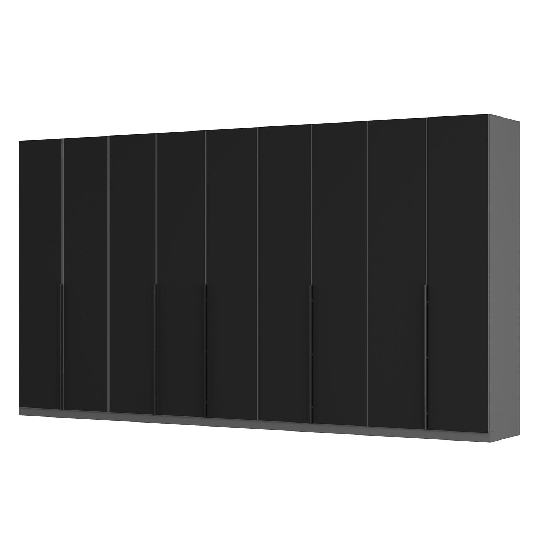 goedkoop Draaideurkast Skøp I grafietkleurig zwart mat glas 405cm 9 deurs 222cm Basic Skop