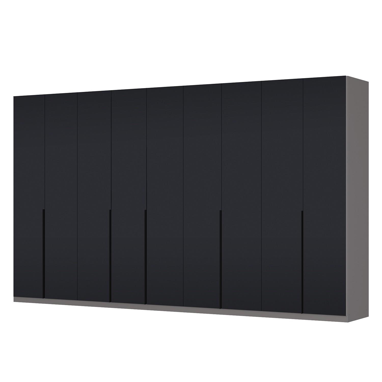 goedkoop Draaideurkast Skøp I grafietkleurig zwart mat glas 405cm 9 deurs 236cm Basic Skop