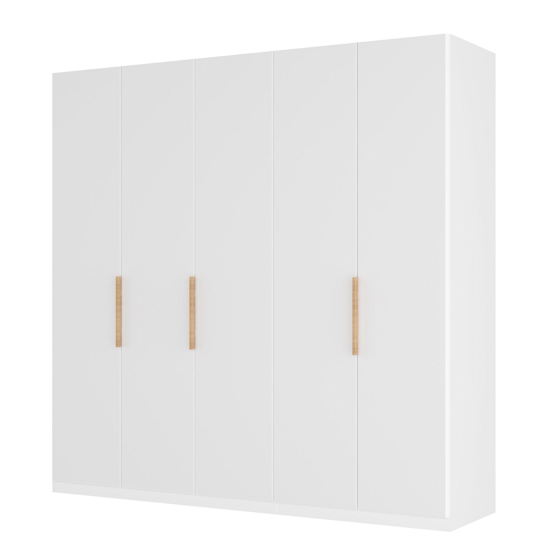 goedkoop Draaideurkast Skøp I wit matglas 225cm 5 deurs 236cm Basic Skop