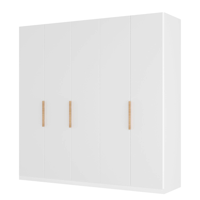 goedkoop Draaideurkast Skøp I wit matglas 225cm 5 deurs 236cm Comfort Skop