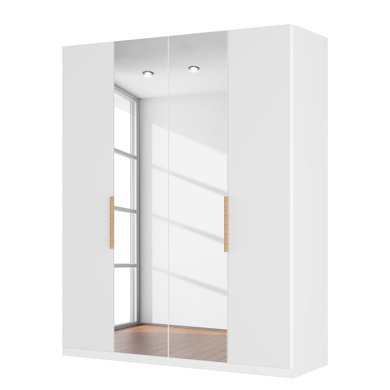 goedkoop Draaideurkast Skøp I hoogglans wit kristalspiegel 181cm 4 deurs 236cm Comfort Skop