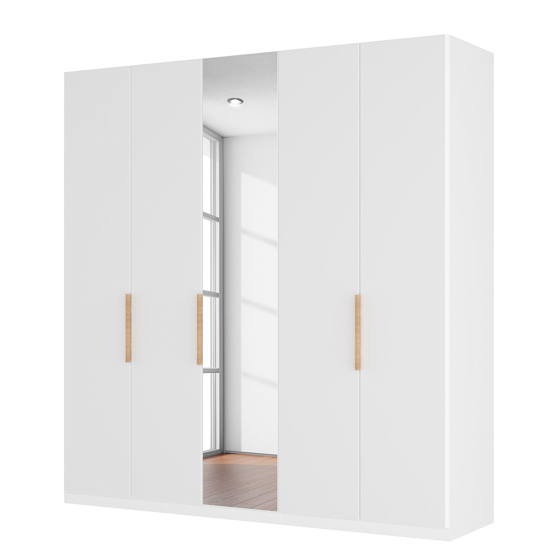goedkoop Draaideurkast Skøp I hoogglans wit kristalspiegel 225cm 5 deurs 222cm Basic Skop