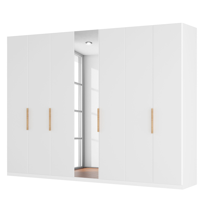 goedkoop Draaideurkast Skøp I hoogglans wit kristalspiegel 315cm 7 deurs 222cm Classic Skop