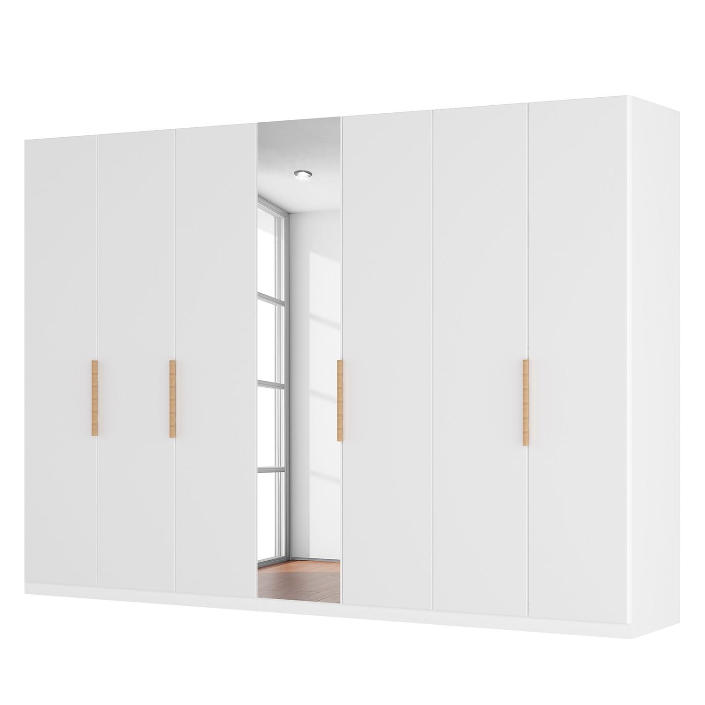goedkoop Draaideurkast Skøp I hoogglans wit kristalspiegel 315cm 7 deurs 236cm Comfort Skop