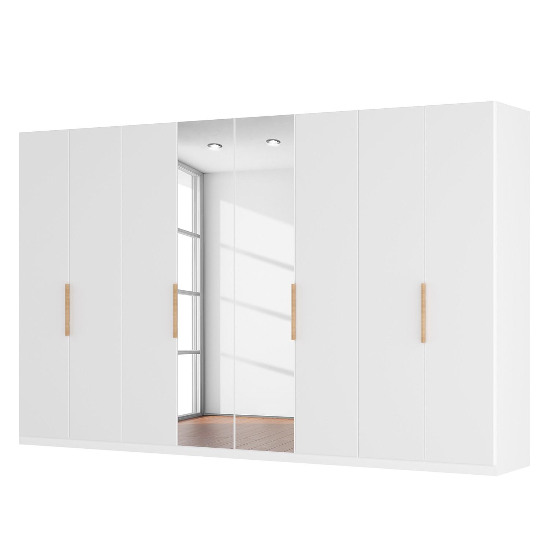 goedkoop Draaideurkast Skøp I hoogglans wit kristalspiegel 360cm 8 deurs 236cm Classic Skop