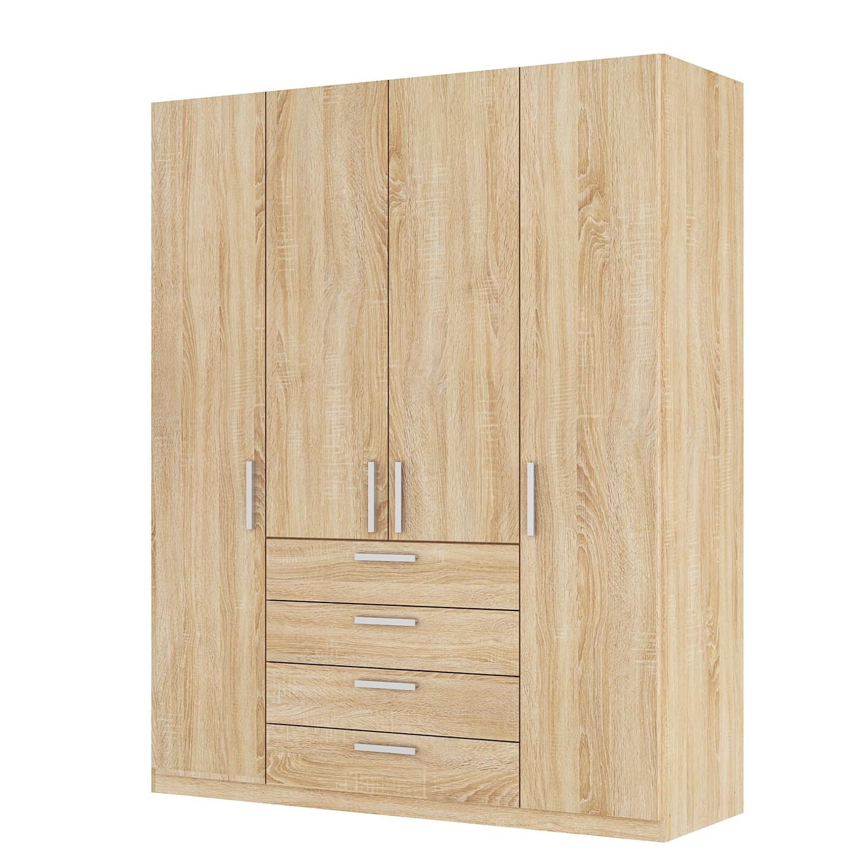 goedkoop Draaideurkast Skøp II Sonoma eikenhouten look 181cm 4 deurs 222cm Premium Skop