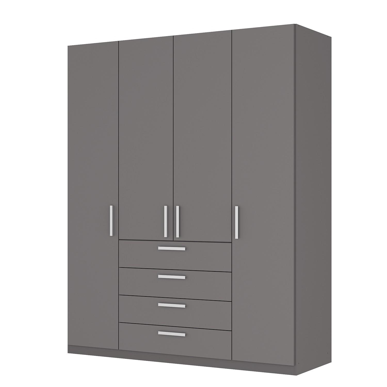 goedkoop Draaideurkast Skøp II grafietkleurig 181cm 4 deurs 222cm Comfort Skop