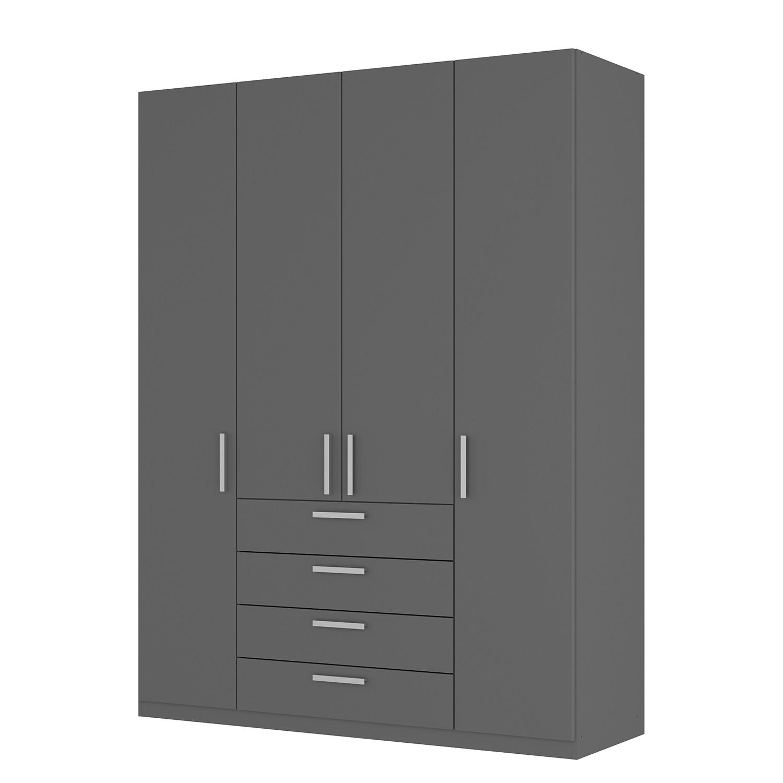 goedkoop Draaideurkast Skøp II grafietkleurig 181cm 4 deurs 236cm Comfort Skop