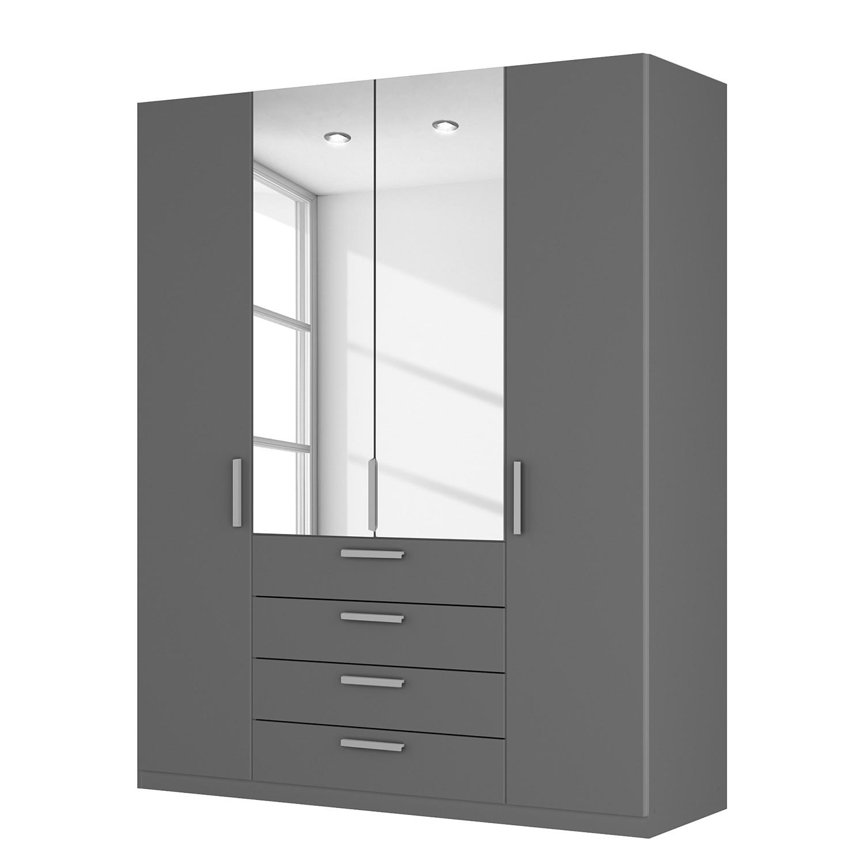 goedkoop Draaideurkast Skøp II grafietkleurig kristalspiegel 181cm 4 deurs 222cm Premium Skop