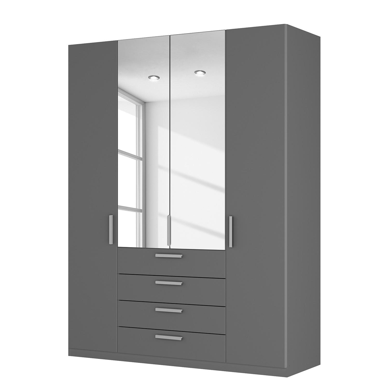 goedkoop Draaideurkast Skøp II grafietkleurig kristalspiegel 181cm 4 deurs 236cm Classic Skop