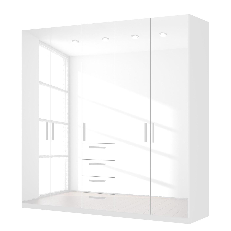 goedkoop Draaideurkast Skøp II hoogglans wit 225cm 5 deurs 222cm Comfort Skop