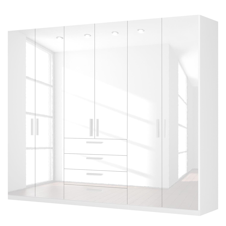 goedkoop Draaideurkast Skøp II hoogglans wit 270cm 6 deurs 222cm Basic Skop
