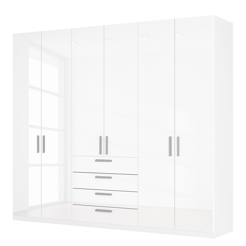 goedkoop Draaideurkast Skøp II hoogglans wit 270cm 6 deurs 236cm Basic Skop
